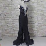 スパンデックスのパーティー向きのドレスの花嫁のイブニング・ドレスZ3036のビーズの真珠の人魚の母
