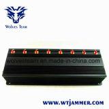 高い発電のWiFi GPSの携帯電話の妨害機およびUHF VHF Lojackの妨害機