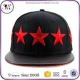 Tampão feito sob encomenda com logotipos do bordado da estrela 3D, chapéu do Snapback de Hip Hop