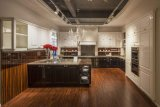 Hotsaleのアメリカの台所家具の純木の食器棚
