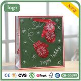 Weihnachtsrotes Beutel-kleines Handschuh-Muster-Papierbeutel, Geschenk-Papierbeutel
