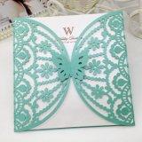 Qualitäts-Perlen-Papier-Laser-Schnitt-Hochzeits-Einladungs-Karte