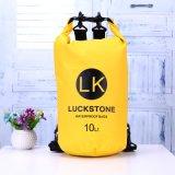 saco seco impermeável da natação 10L ao ar livre que acampa transportando a trouxa seca Bolsa do armazenamento da nadada do gancho da cinta do saco Bag+Adjustable do armazenamento
