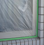Cinta del conducto + película protectora, para la pintura de las mejoras para el hogar, película de enmascarado