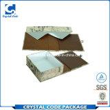 Rectángulo de papel plegable impermeable revestido de la laminación ULTRAVIOLETA de la insignia
