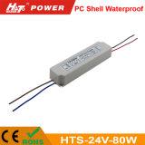 24V 3A 80W Waterproof a fonte de alimentação do interruptor para o módulo do diodo emissor de luz