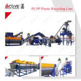 Reciclaje plástico y lavadora de la botella de los PP del PE automático de Commerical