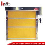 A porta de alta velocidade industrial do obturador do rolo do PVC interior rola acima