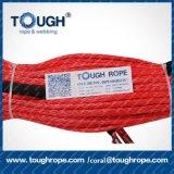 Tr-26 Dyneema synthetisches Seil der Handkurbel-4X4 mit der Haken-Muffe-Hülse gepackt als volles Set