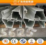 Marca Weiye eletroforese de perfis de alumínio para porta com TUV
