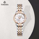 Regarder la dame en acier inoxydable montre-bracelet décoré avec de petites pierres brillantes fantaisie 71079