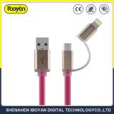 2 em 1 cabo do carregador de dados USB para Celular