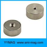 N35 Gedaalde Magneten van de Magneet van de Pot van het Neodymium de in tegenovergestelde richting voor Verkoop
