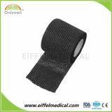 Soft Non-Woven souple élastique cohésive Bandage de gaze de cheville