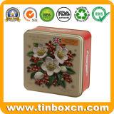 Олов печениь коробки хранения металла печений упаковки еды выбитые квадратом