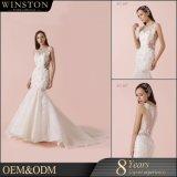 Добавочная мантия платья венчания шнурка размера 2018 Bridal