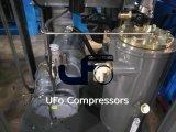 Compresseur d'air à vis électrique stationnaire industriel avec le réservoir d'air