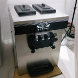 Table en acier inoxydable haut de page utilisé crème glacée molle, avec 3 saveurs de la machine