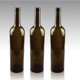 Frascos de vinho de vidro coloridos do azul de cobalto em 750ml