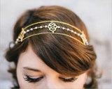 서쪽 작풍 황금 은 머리 굴렁쇠 Catenulate 머리띠