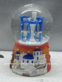 Igreja de Polyresin Greece de presentes do globo da neve da lembrança