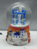 Polyresin Grécia Igreja de loja de presentes de Globo de neve
