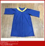 Abito di graduazione di High School di alta qualità su ordine e protezione blu della nappa (U46)
