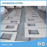 Witte Countertop van uitstekende kwaliteit van de Steen van het Kwarts voor Keuken