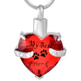 私の犬私の友人ペット足プリントガラス火葬の宝石類