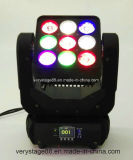 Beweglicher Kopf der Disco-heller Leistungs-9*10W 4in1 RGBW DMX des Träger-LED