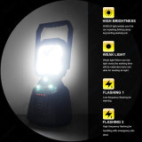 15W 1200lm 휴대용 재충전용 Sos 기능 LED 일 빛