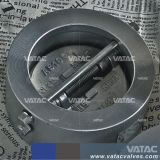 Bolacha Vatac Placa única válvula de retenção de aço fundido