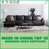Desenhador moderno L couro da forma e sofá do lazer da tela