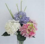 Bon marché en vrac de gros de fleurs artificielles de PU L'hortensia