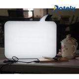 Rectángulo ligero del apoyo LED de la tarjeta del Erase de la burbuja DIY del discurso