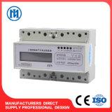 Modbus contador de potencia del carril del contador/estruendo de la energía del carril del estruendo de 3 fases