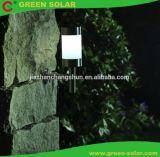 Lumière solaire de poteau d'amarrage d'acier inoxydable avec le blanc très brillant DEL, 3-Pack