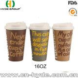16 Oz에 의하여 인쇄되는 커피 종이컵 디자인 또는 벽 종이컵