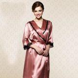 Custom чистый шелк ночной халат для женщин