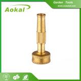 Bocal de bronze de bronze da mangueira de jardim do pulverizador de água do bocal de jato