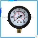 mètre de pression de gaz de boîtier plastique de 50mm