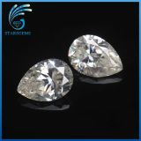 diamante brillante de Moissanite del corte de la pera del color 1CT de 8X6m m Gh para la configuración del anillo