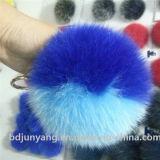 Pelliccia sveglia del cuoio genuino dei fiocchetti della pelliccia di Keychain della sfera della pelliccia di Fox