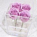 우아한 대중적인 작풍 아크릴 결혼식 꽃 선물 상자
