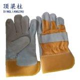 Gants de soudure de sûreté de cuir fendu de vache à qualité dans l'usine