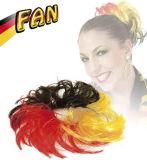 El partido de Alemania avienta la peluca larga larga de la pinza de pelo para Wm 2018 años
