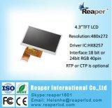 Type transmissif de Tn TFT LCD 480X272 de 4.3inch avec l'écran tactile pour le dispositif visuel