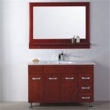 Rote Farbe MDF-Badezimmer-Eitelkeit mit Aluminiumordnung