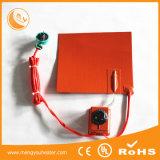 calefator elétrico da borracha de silicone do aquecimento 12V de 100*100mm