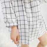 Платье девушки оптовых просто женщин вскользь плиссированное
